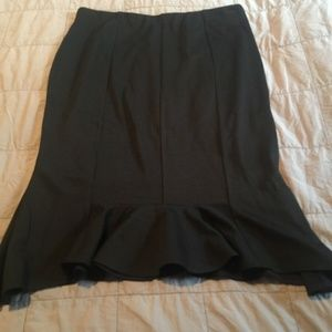 NWT Express Black Seamed Ponte Fitted Skirt 12